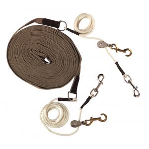Lange teugels met pulley's