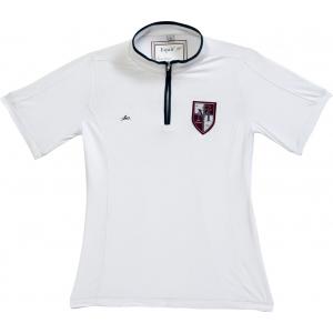 EQUITHÈME wedstrijd polo shirt met rits en korte mouwen