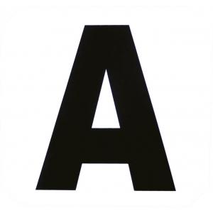 Bahnpunkte, 12er Buchstabenaufkleber-Set