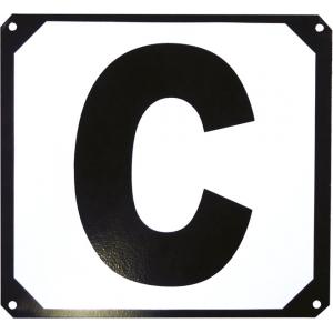 12er Buchstaben-Set, Bahnpunkte auf Metallrahmen