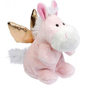 Peluche cheval Ange Gardien, rose