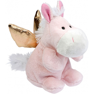 "Plush Horse ""Guardian Angel"", pink"