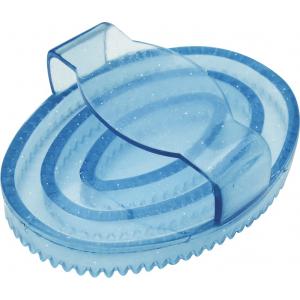 Étrille ovale Hippo-Tonic caoutchouc à paillettes