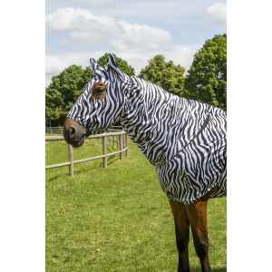 EQUITHÈME Sweet-itch mask - Zebra