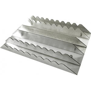 Rectangular aluminium curry comb