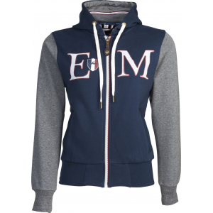 """Equit'M"" Cotton sweatshirt with zip"