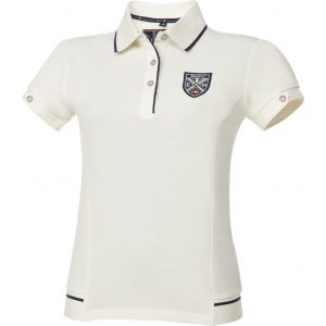 EQUITHÈME E.L. Fine piqué cotton polo shirt, short sleeve