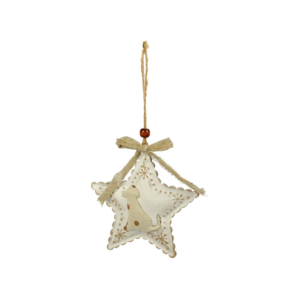 Décoration Chien en forme d'étoile