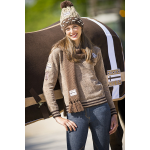 "EQUITHÈME ""CSI 5*"" chenille sweater - Adult"