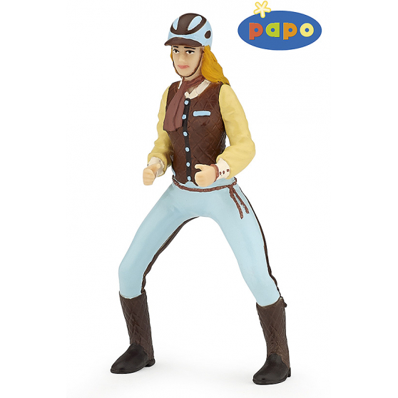 Cavalière adulte fashion bleue Papo