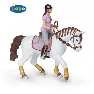 PAPO Pferd mit geflochtenen...