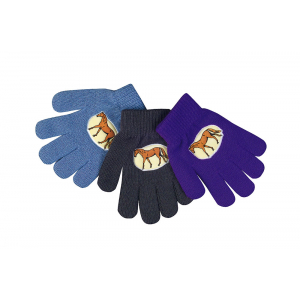 Unisize kinder handschoenen met paard applicatie - Kinderen