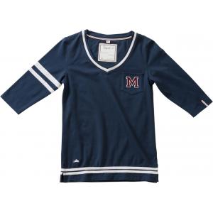 EQUITHÈME Jersey V-hals t-shirt, ¾ mouwen