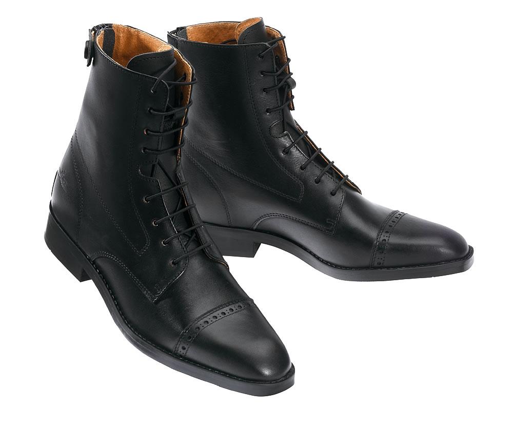 boots equithÈme à lacets bout carré - boots d'equitation - padd