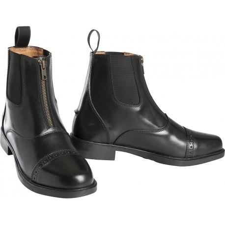 Bottes femme à bride et zip noir AMERICA - Couleur:Noir Pointure:4 dJxzK