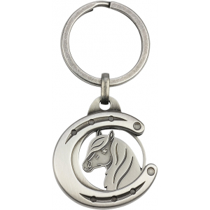 Coin Holder Horse Shoe with Horse Head