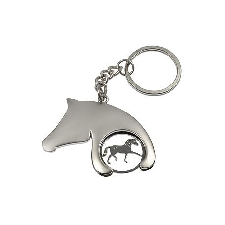 Porte-clés/jeton forme tête de cheval