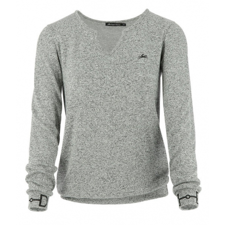 Pull fin EQUITHÈME Mors, manches longues