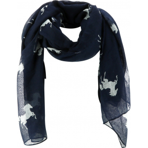 EQUITHÈME Schal mit Pferdeziermotivdruck