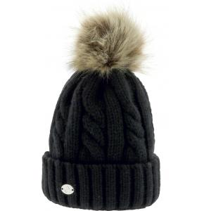 EQUITHÈME Torsades pom-pom knitted hat