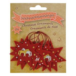 Décoration de Noël Chevaux en feutrine