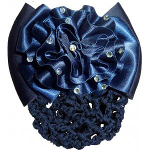 Blumen Haarspange mit Haarnetz