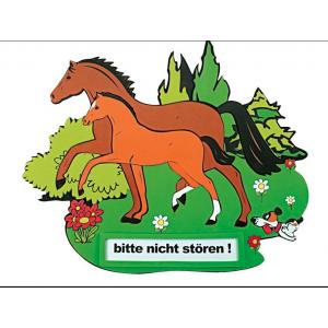 """Türschild """"Stute und Fohlen"""""""