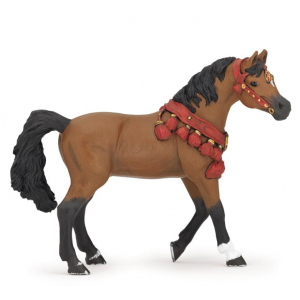 Cheval arabe en tenue de parade Papo