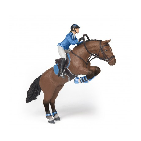 Cheval de saut d 39 obstacle et sa cavali re papo jouets figurines padd - Frison saut d obstacle ...
