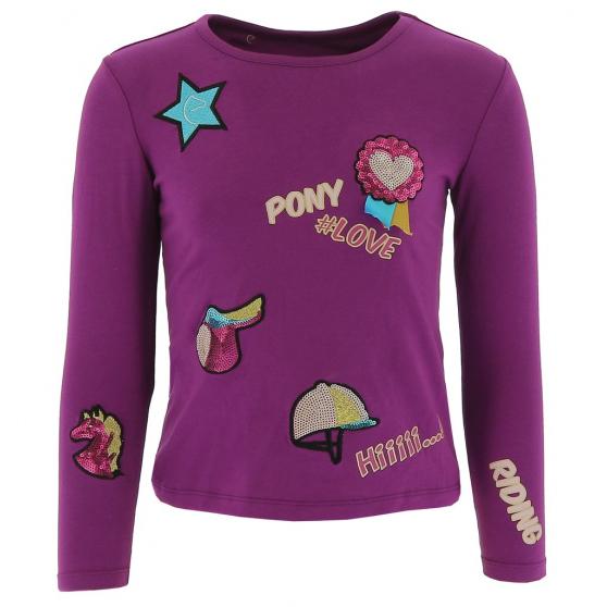 T-shirt Equi-Kids PonyLove à badges - Enfant