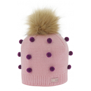 Equi-Kids Knitted bobble hat pompom - Child