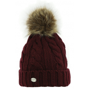Knitted Bobble Hat EQUITHÈME Double Twisted