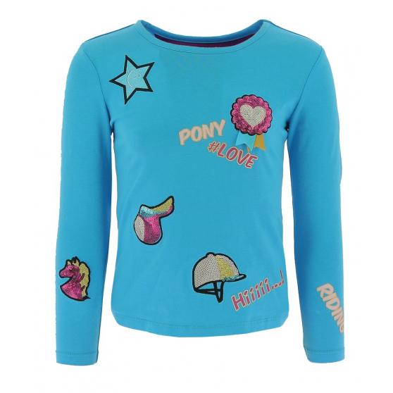 T-shirt Equi-Kids Pony Love Badges - Enfant