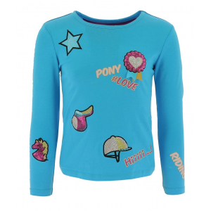 T-shirt Equi-Kids PonyLove with badges - Children
