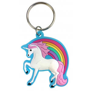 Unicorn Keychain with rubber