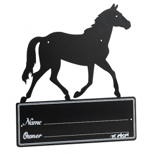 Plaque de box Silhouette de cheval