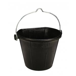 Stalleimer, schwarzer Gummi