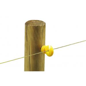 Screw insulator, yellow