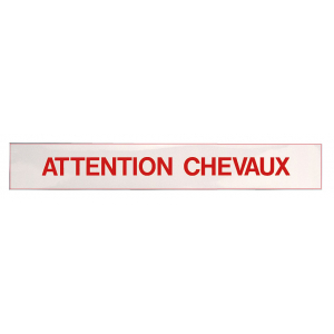 "Aufkleber ""Attention Chevaux"""