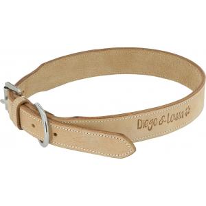Diego & Louna Naturleder Hundehalsband