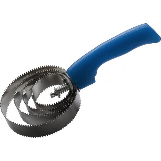 Étrille Hippo-Tonic métallique ronde fluo pailleté