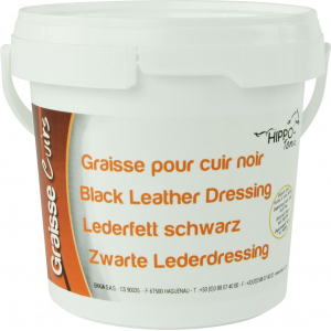 Black leather grease...