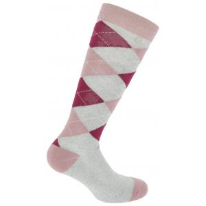 EQUITHÈME Argyle Lurex-Socken
