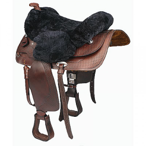 C.S.O. Real sheepskin western saddle cover