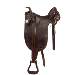 Stock saddle, stitched, with horn Norton Club