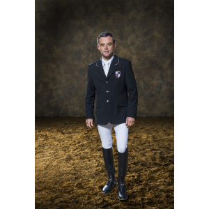 EQUITHÈME Competition jacket, plain fabric - Men