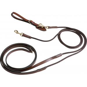 Éric Thomas Pro leather/rope draw reins