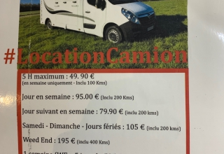 location de Camion Nissan 170cv